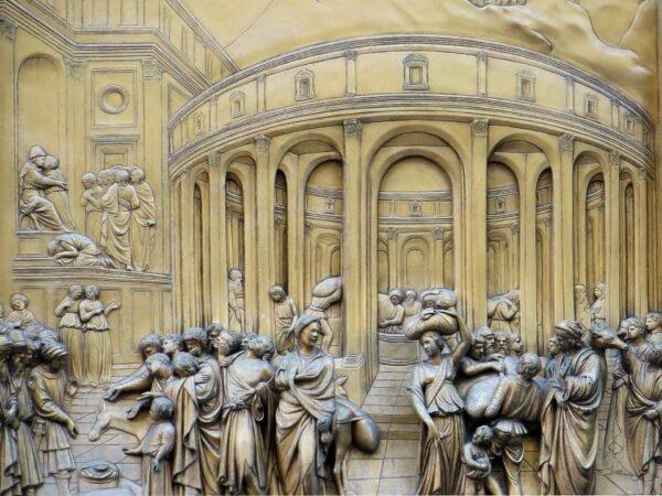 Detalhe painel Porta do Paraiso Florença