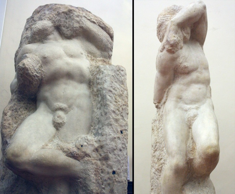 Prisioneiros - Michelangelo - Galleria dell'Accademia - Florença.