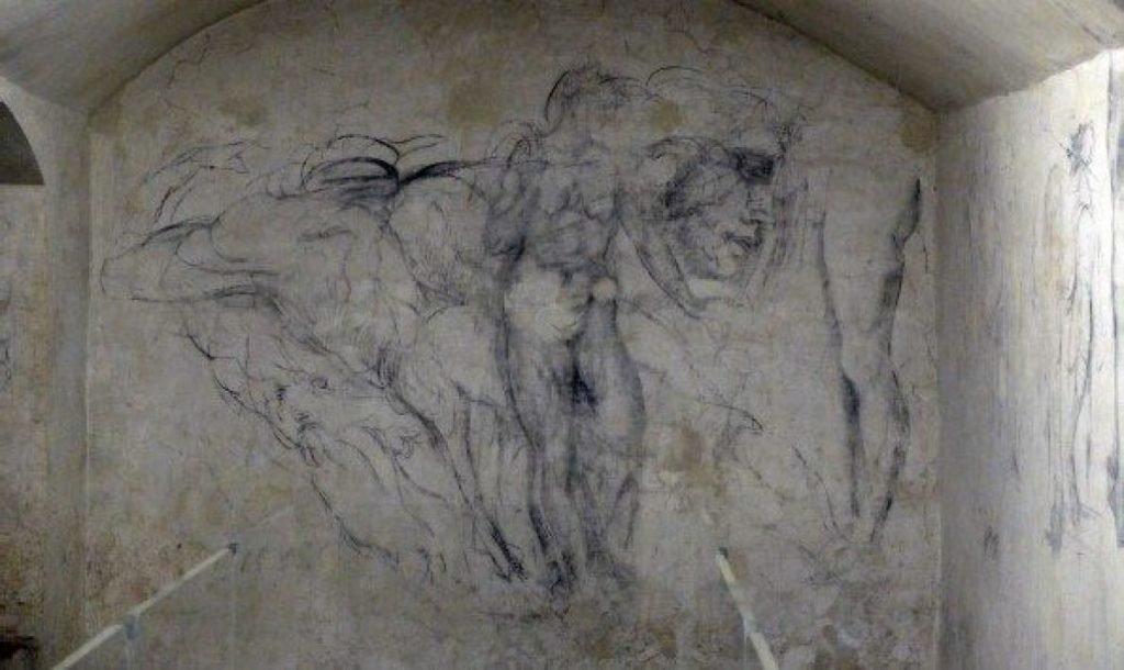 Sala secreta de Michelangelo: desenhos